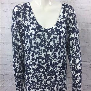 Ann Taylor LOFT Linen Floral Knit Top XS